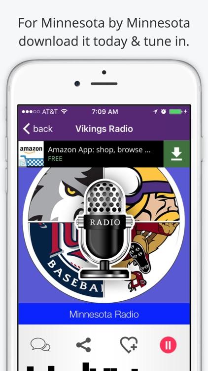 Vikings GameDay Radio for Live Minnesota Sports, News, and Music – Timberwolves and Wild Edition screenshot-3