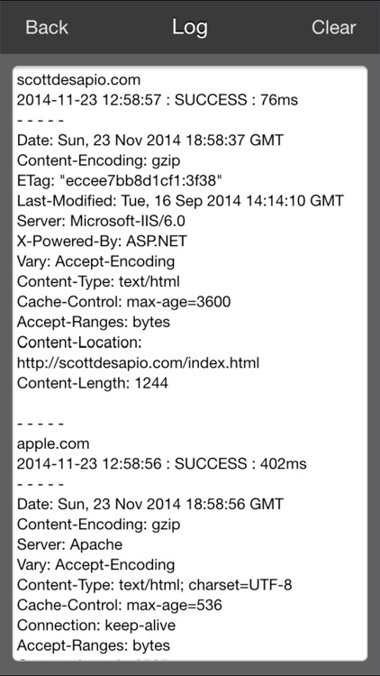 Scott's Pinger - Website Status Monitor screenshot-3