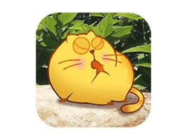 Up your texting game with playful animated stickers of Pumpy Cat and add on accessories