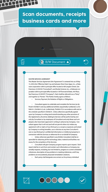 Easy Scanner App: PDF Document, Receipt Photo Scan screenshot-1