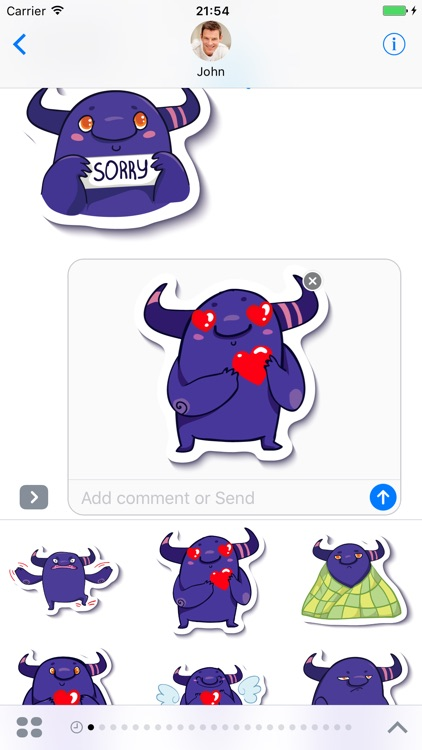 Monster - Stickers for iMessage screenshot-3