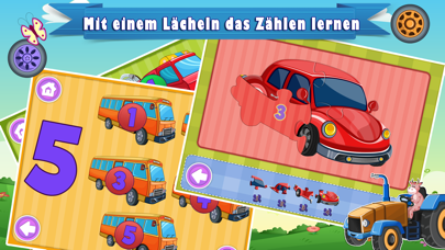 Learn German for Kids- First Words Trucks Puzzles screenshot four