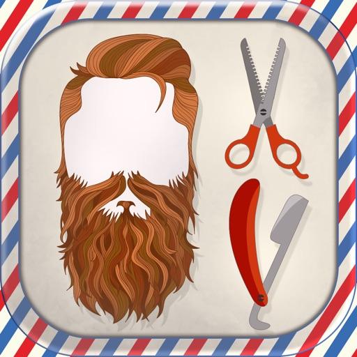 Mustache Photo Booth Barber Shop - Men Hair Salon