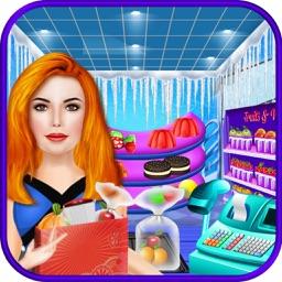 Ice Princess Supermarket Shopping – Girl Supermarket Simulator for grocery & cash register store