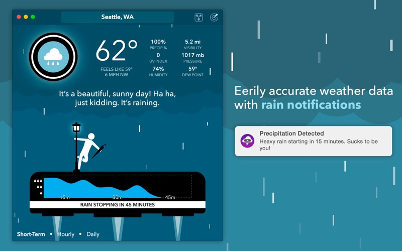 CARROT Weather - Talking Forecast Robot Screenshot