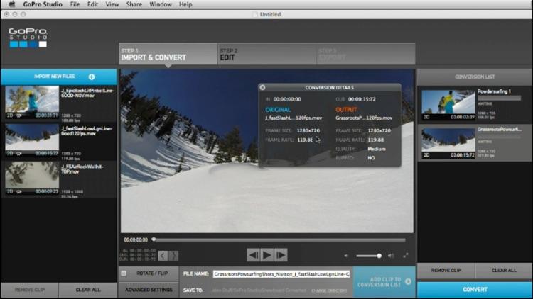 Control for GoPro + Studio