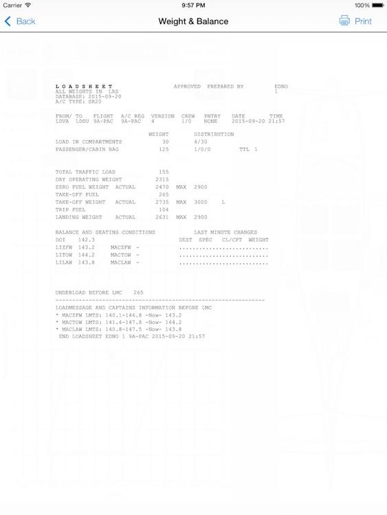 Pan Aero Weight and Balance Light Aircraft screenshot-3