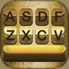 Gold Keyboard Themes – Color Text Fonts and Message Backgrounds with Glow.ing EmojiS