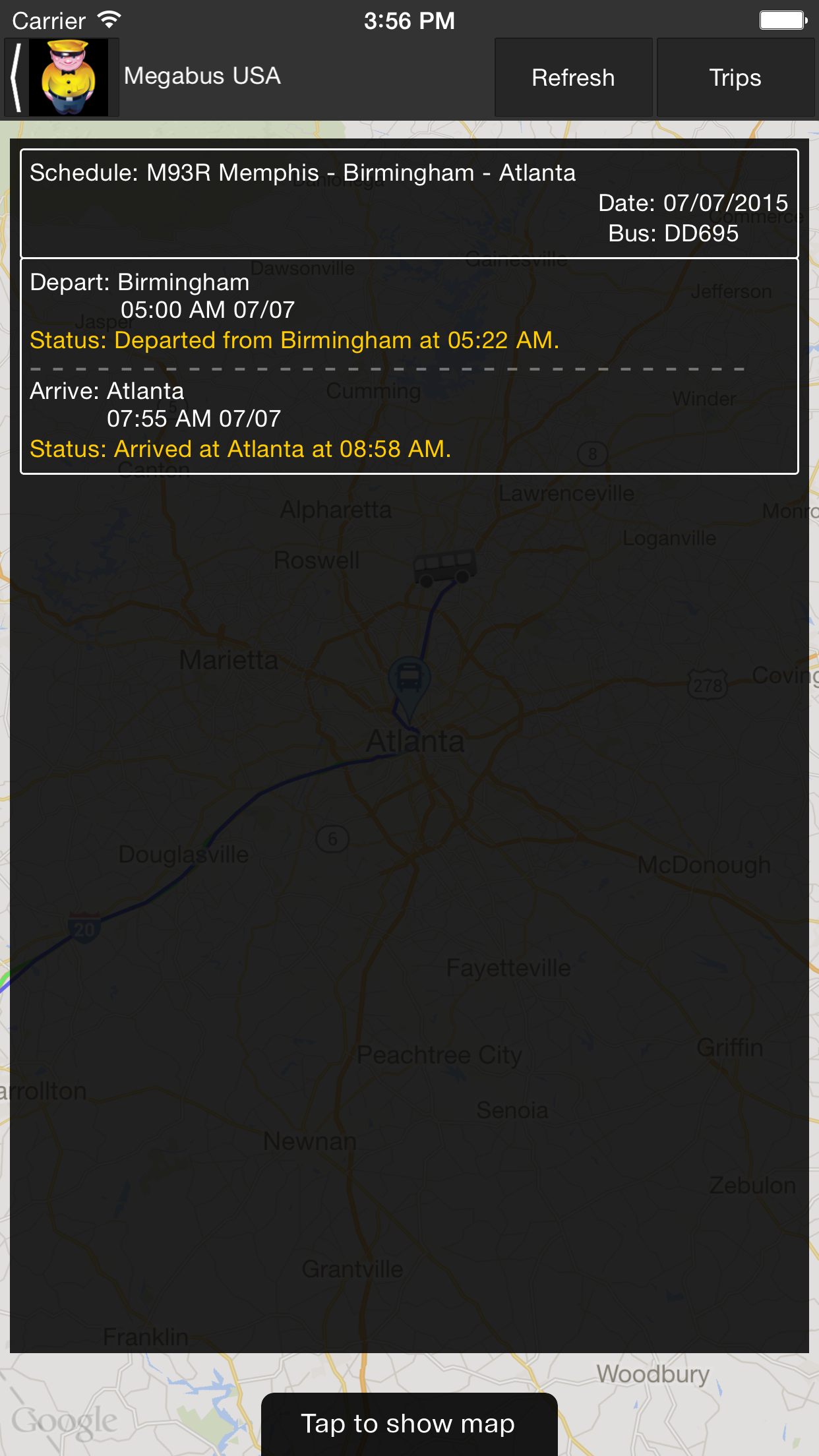 Megabus USA Screenshot
