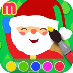 christmas coloring book painting app for kids learn how to paint cute xmas drawings 4 - Drawings To Paint For Kids