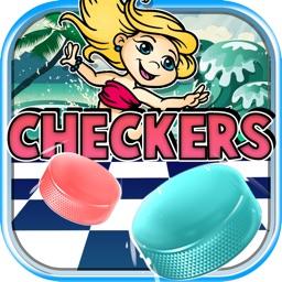 "Checker Board Puzzle Pro ""for The Little Mermaid """