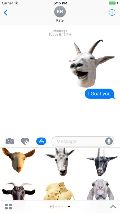 Goat Sticker for iMessage screenshot-3