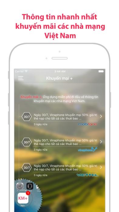 KM+: tin khuyến mãi nạp thẻ