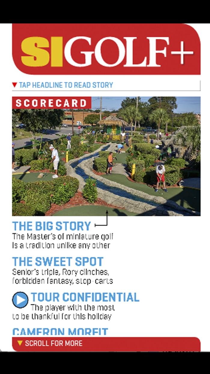 Sports Illustrated Golf+ Digital Screenshot