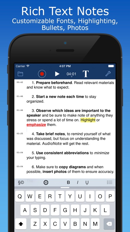 AudioNote 2 - Notepad and Voice Recorder, Free app image