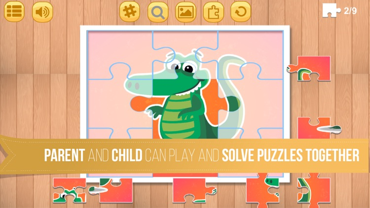 Kids Jigsaw Puzzle World : Animals - Game for Kids for learning screenshot-3