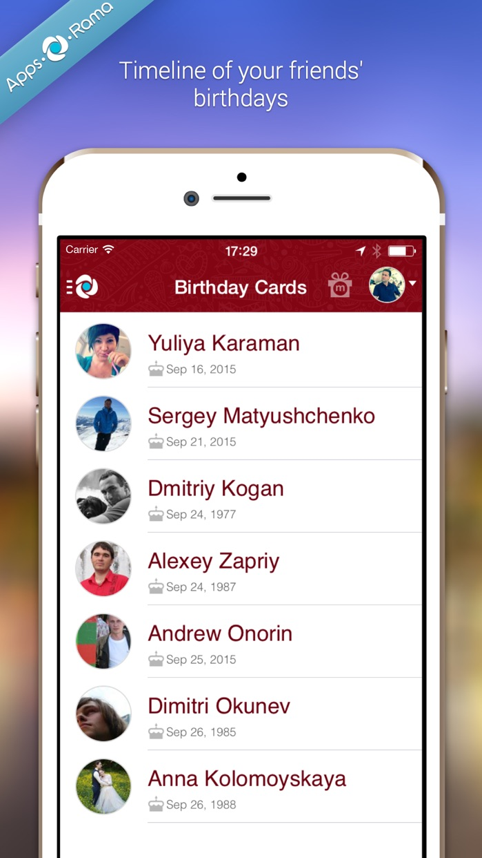 Birthday Cards for Friends Screenshot