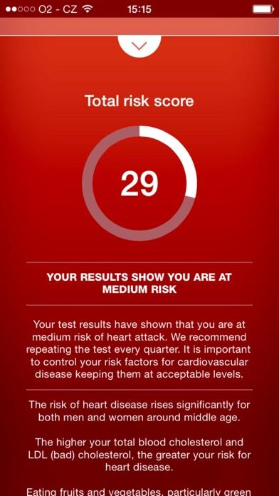 Heart Test - risk calculator of heart attack screenshot two