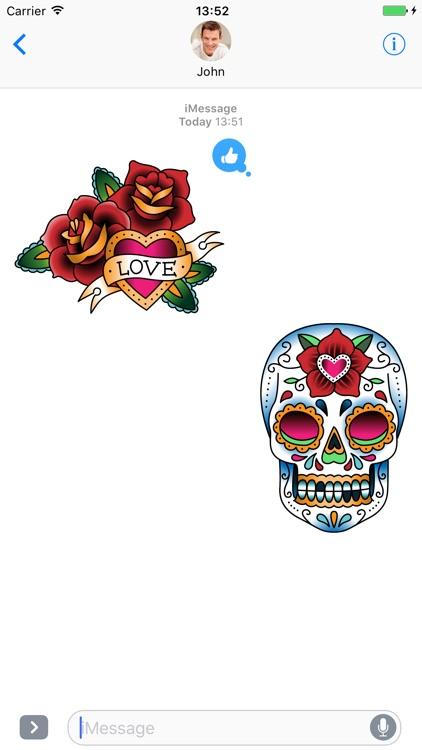 Tattoo set - Stickers for iMessage screenshot-3