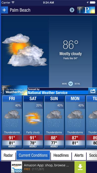 Palm Beach Post WeatherPlus Screenshot