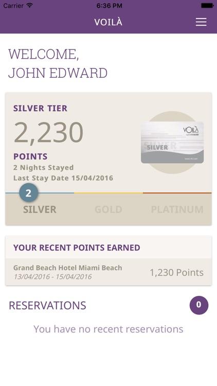 VOILÀ Hotel Rewards