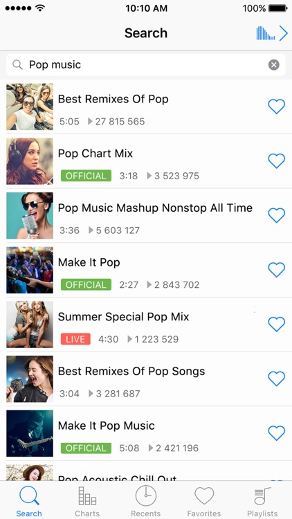 iMusic BG - Unlimited Music Player & Streamer