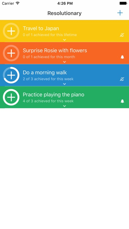 Resolutionary - plan and track your resolutions