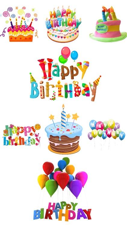 Wish Happy Birthday by Sticker
