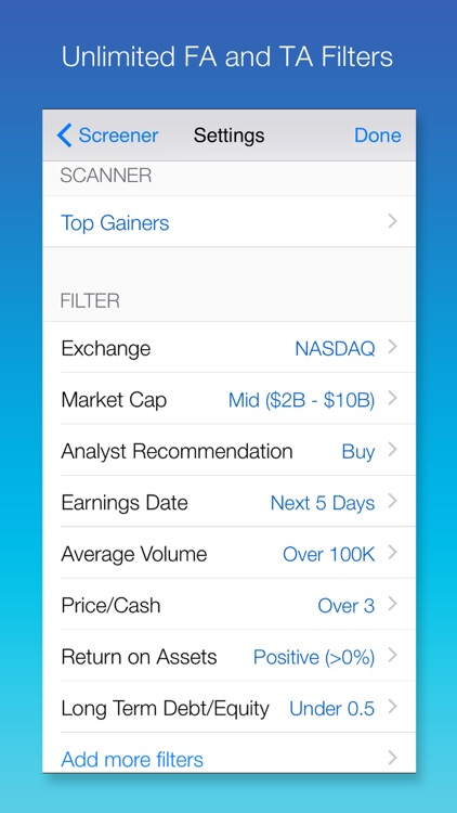 Stock Screener: Stocks Finder with Easy Filters