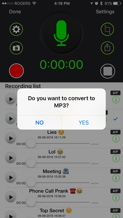Automatic Voice Recorder Pro - AVR Record Screenshots