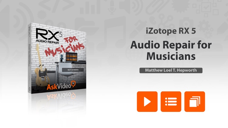 Music Audio Repair Course For iZotope RX 5 by ASK Video
