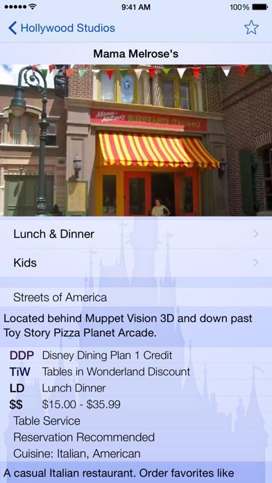 Dining for Disney World app image