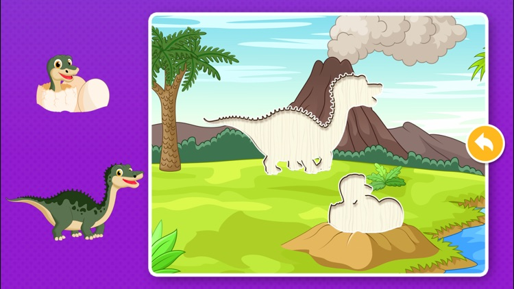 Kids Dinosaur Puzzle Games: Toddlers Free Puzzles screenshot-2