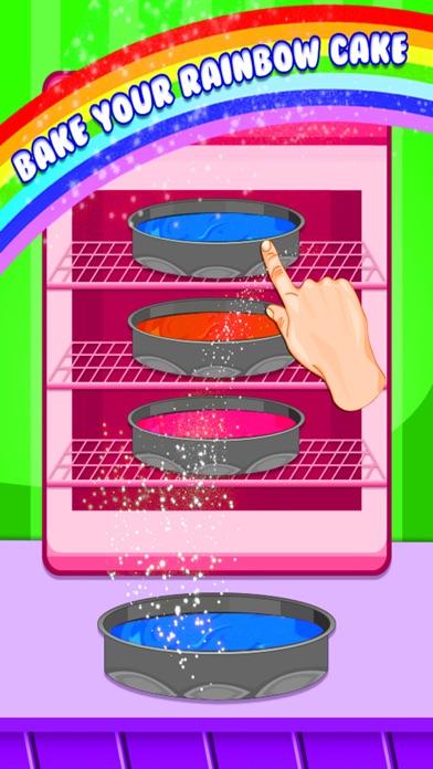 Rainbow Cake Maker - Cooking Rainbow Birthday Cake screenshot three
