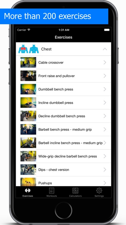 Gym Guide workouts and exercises for fitness
