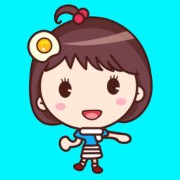 Yolk Girl Sticker Pro - Color, Cute Stickers