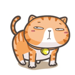 Lazy Fat Cat Stickers Pack