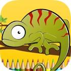 子供のための爬虫類のぬりえ:ペイントやワニ、イグアナ、カメなどを描きます icon