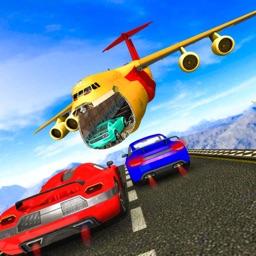 Car Jump Into Cargo plane