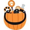 Halloween Costume Stickers - Trick or Treat