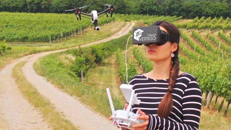 3D FPV - DJI drone flight in real 3D VR FPV