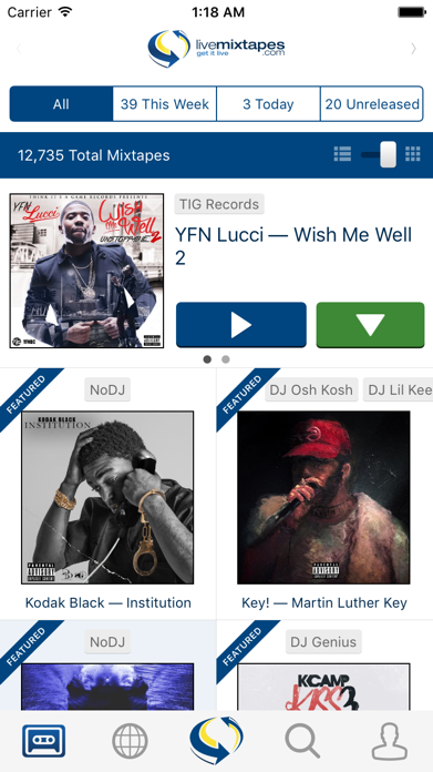 LiveMixtapes Screenshot