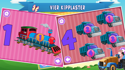 Learn German for Kids- First Words Trucks Puzzles screenshot three