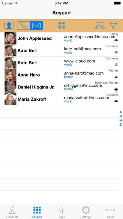 ContactsPro for iPad (and iPhone) screenshot-4