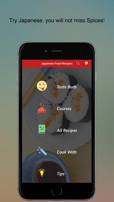 Japanese Food Recipes Cookbook Screenshot