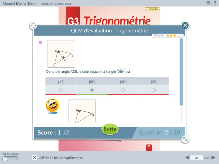 iParcours Maths 3e screenshot-2