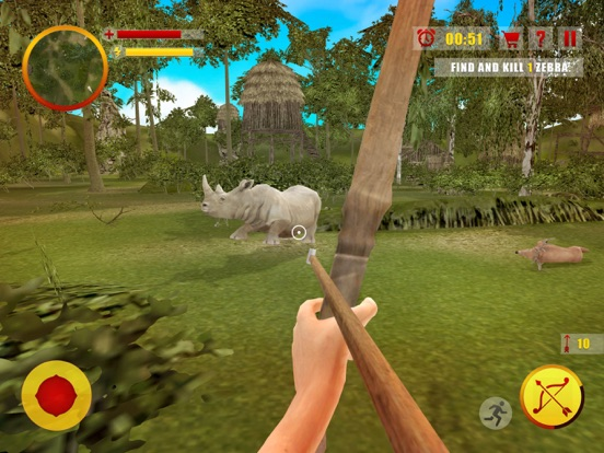 Скачать Джунгли охота Стрельба из лука Мастер - Лук и стре