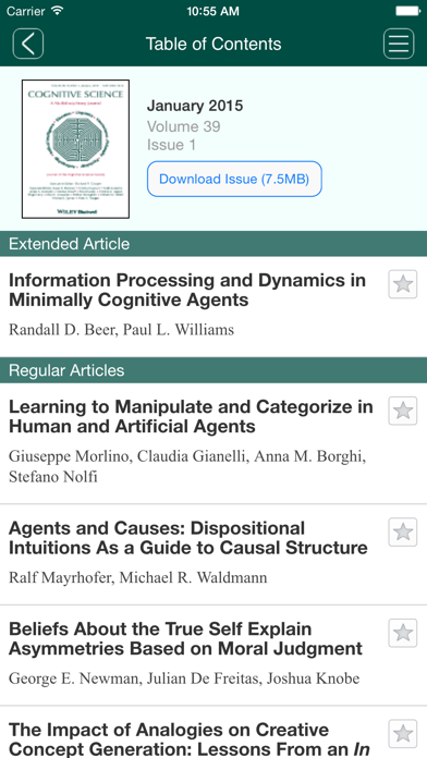 Cognitive Science screenshot one