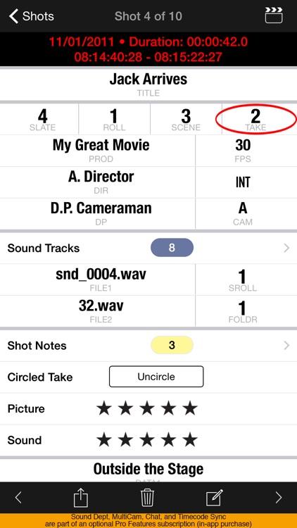 MovieSlate® 8 (Clapperboard + Shot Log) screenshot-3