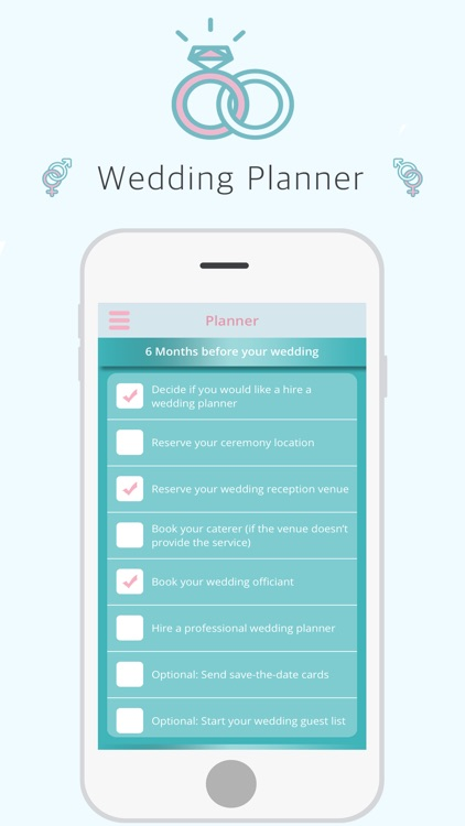 Wedding Planner - track budget, bridal party, guests, vendors, appointments, gifts registry
